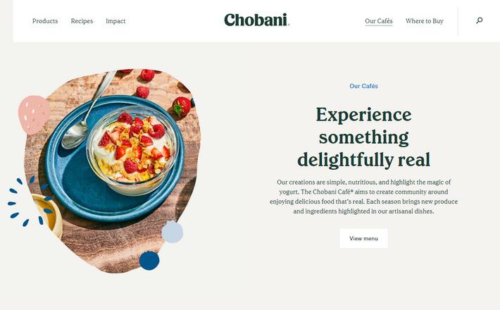 Приятный плоский дизайн FOOD-сайта небольшой турецкой компании