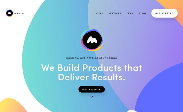 Абстрактный формы - веб тенденция 2019 на примере дизайна сайта mawla.io