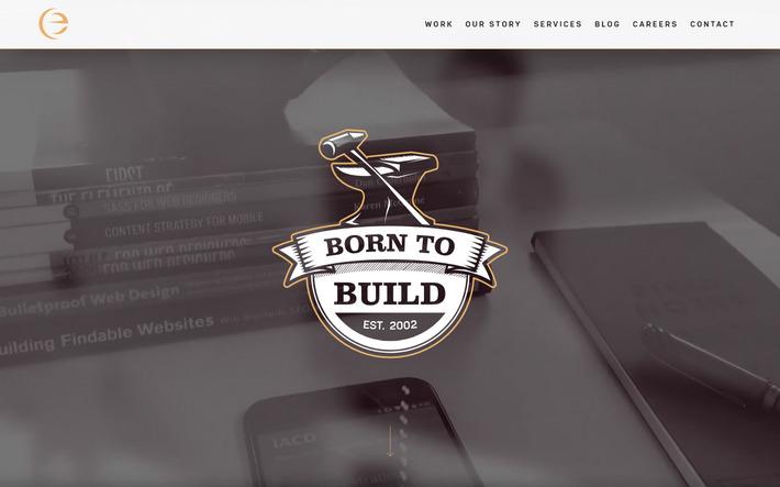 Простой плоский дизайн, сделанный качественно и со вкусом - сайт агентства eTecc Interactive