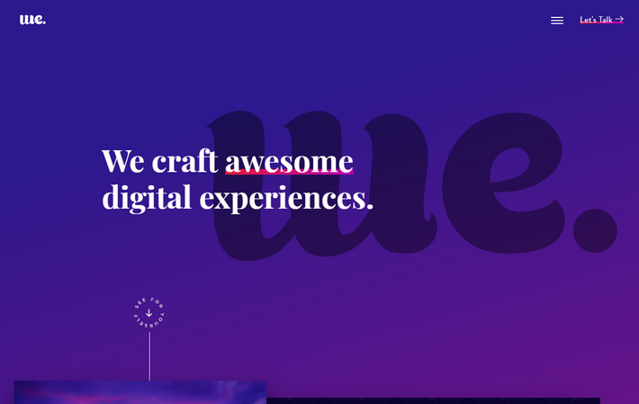 Яркий Flat сайт разработчиков из Флориды - градиенты, слои и тени в стиле Material