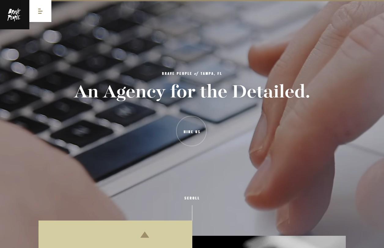 Сайт Brave People с эффективным плоским интерфейсом - стильный, понятный и максимально компактный