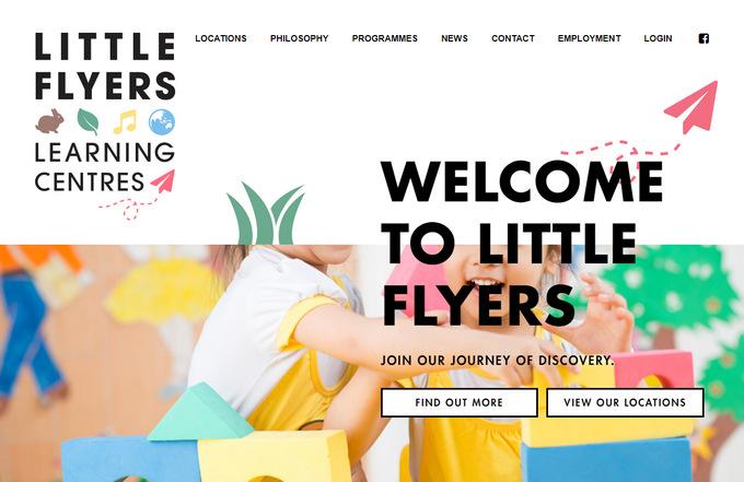 Сайт детской тематики из Австралии создает настроение сочными плоскими цветами