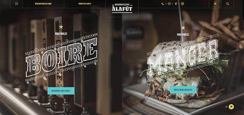 Красивая типографика в веб-дизайне: креативно заштрихованный мелом ретро шрифт на сайте - alafut.qc.ca