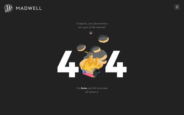 Костер на 404-й странице креативного агентства