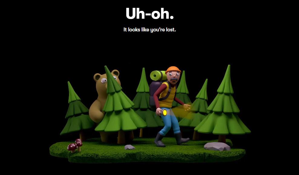 """Сказочная 404-я страница на сайте сервиса учета рабочего времени """"тайм-трекера"""" — toggl.com"""