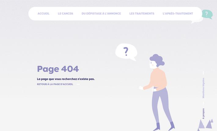 Красиво проиллюстрированный французский сайт с 404 страницей — веб-сайт лионского хосписа Civils de Lyon