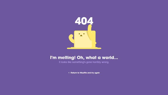 Страница ошибки: персонаж сайта на 404-й начинает плавиться