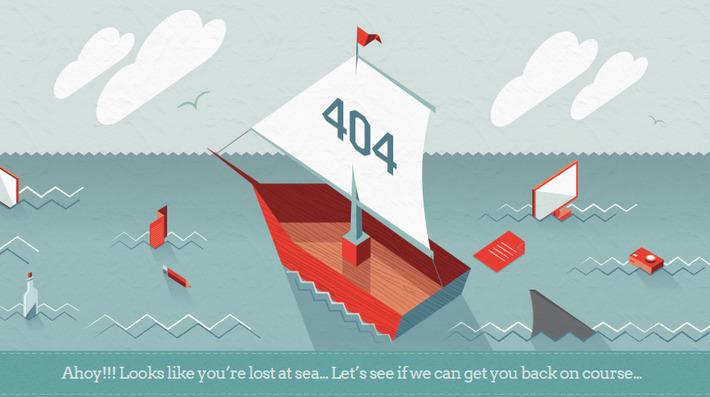 Анимированная страница 404 агентства графического дизайна