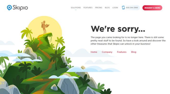 Затерявшийся среди красот путешественник. 404 страница с сохраненной и доп. навигацией предлагает ему осмотреться