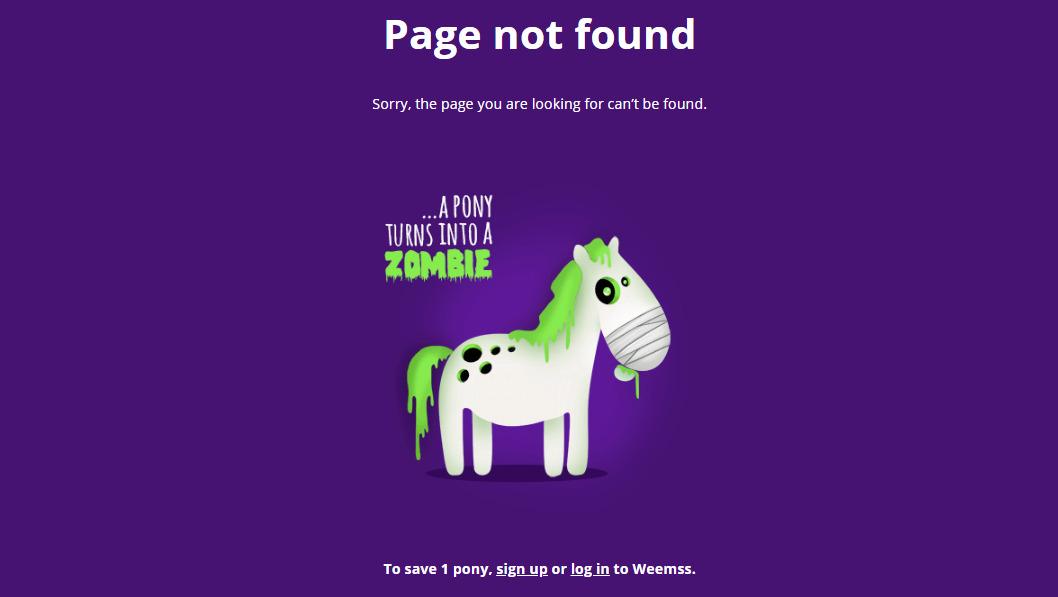 """Превращение пони в зомби на 404-й странице сервиса для онлайн-событий """"Все в одном"""""""