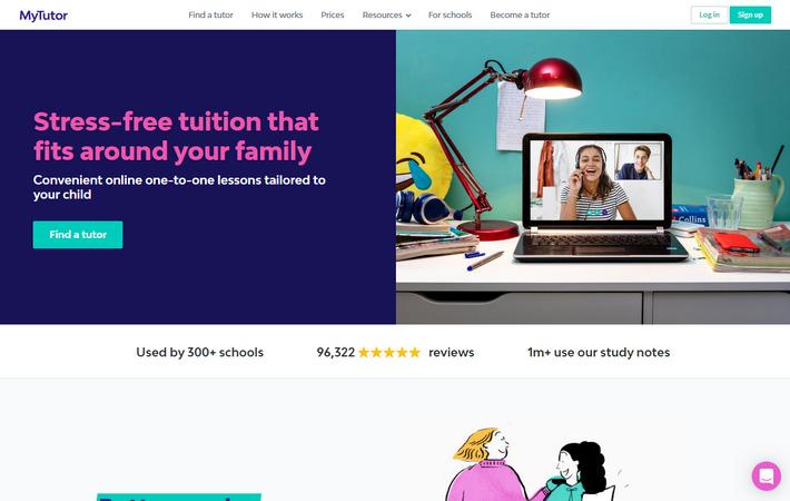 Mytutor.co.uk - успешный лэндинг с высоким коэффициентом конверсии в нише Образование