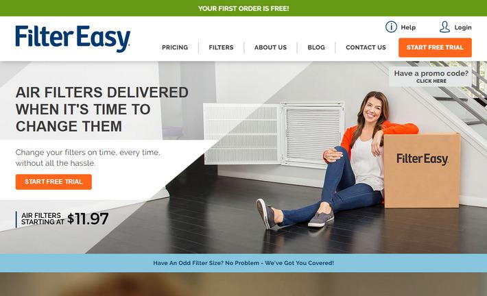 Filtereasy.com - успешный лендинг с высоким коэффициентом конверсии в тематике Домашний ремонт