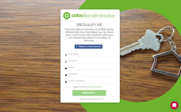 """Ooba.co.za - пример эффективной Landing Page в нише """"Финансы"""" с повышающими конверсию описательными призывами Call-to-Action"""
