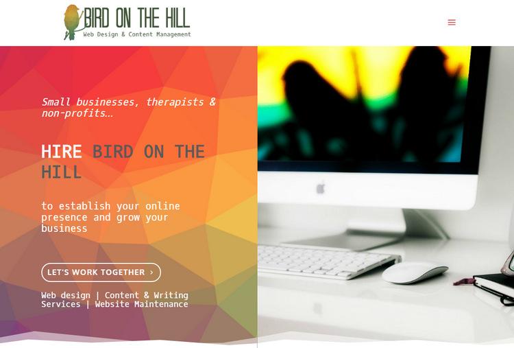 Bird on the hill - приятно и нестандартно оформленный сайт копирайтера и дизайнера сайтов на WordPress