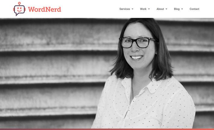 Личный сайт копирайтера Салли Майер с эффективным флэт дизайном