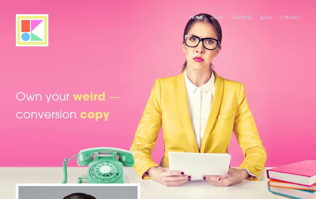 Больше чем копирайтер: Kira Hug из Нью-Йорка применяет креатив и игривый стиль на страницах своего копирайтерского сайта