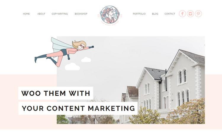 Wild Spirit - красиво иллюстрированный женственный веб-дизайн копирайтерского сайта