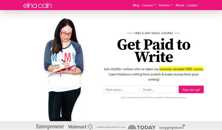 Личные сайты копирайтеров: пример модного женственного веб-дизайна