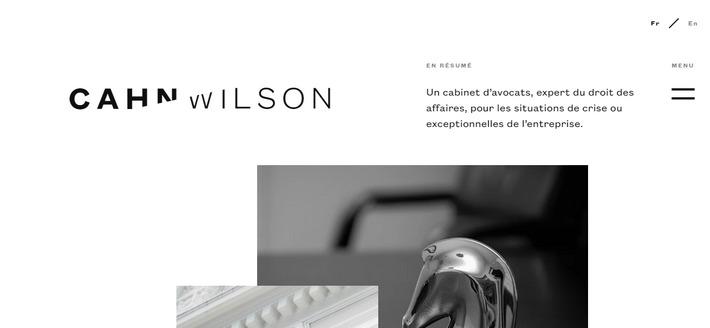 Trendy black and white design: web design trend of 2020