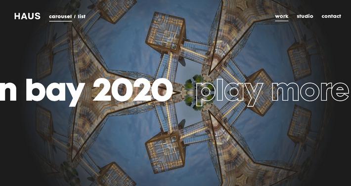 Тренды в типографике сайтов 2020 - применение контурного шрифта