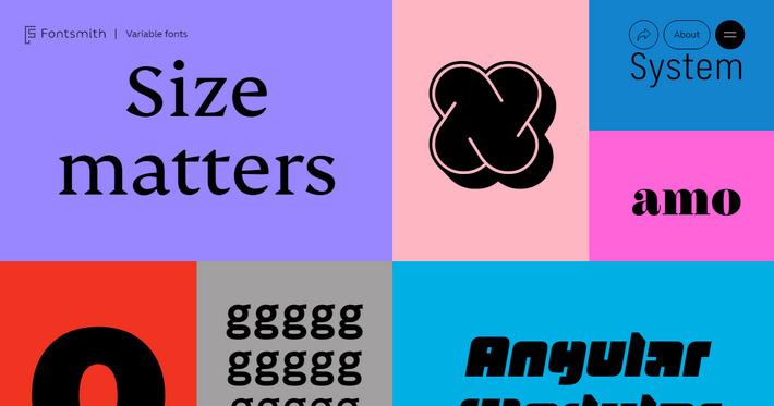 Вариативные шрифты - пример применения тренда на сайте variable-fonts.com