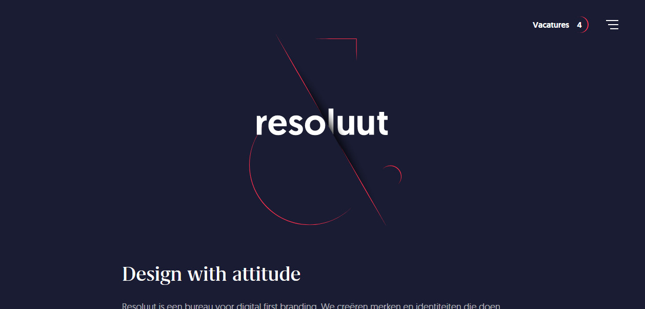Пример креативной типографики в веб дизайне
