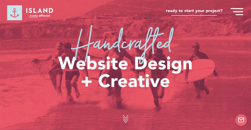 Тренды типографики 2020: красивый рукописный шрифт на сайте weareisland.com