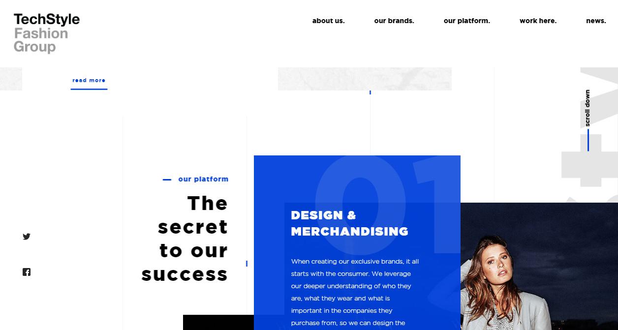 Пример нескольких трендов типографики на сайте