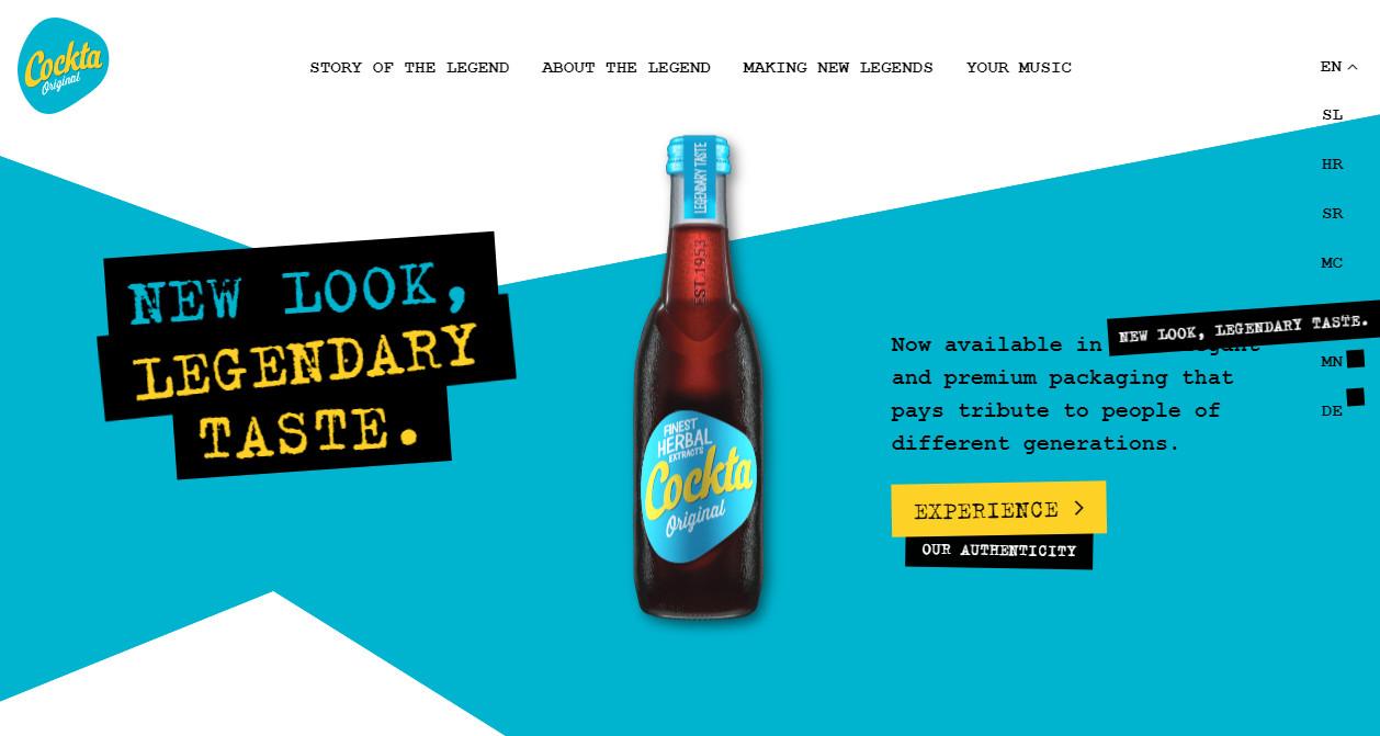 Крутой дизайн сайта с трендовой гранжевой типографикой