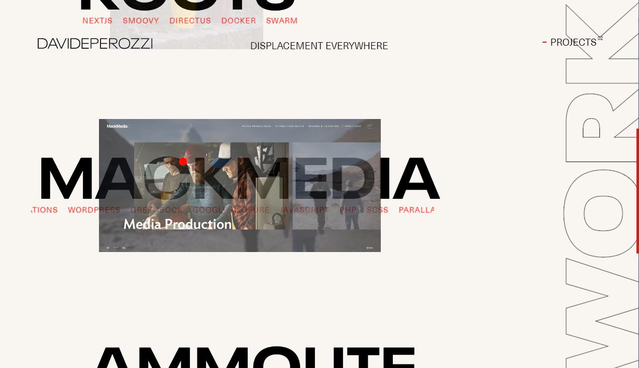 Тренды типографики на примере брутального сайта креативного разработчика - davideperozzi.com