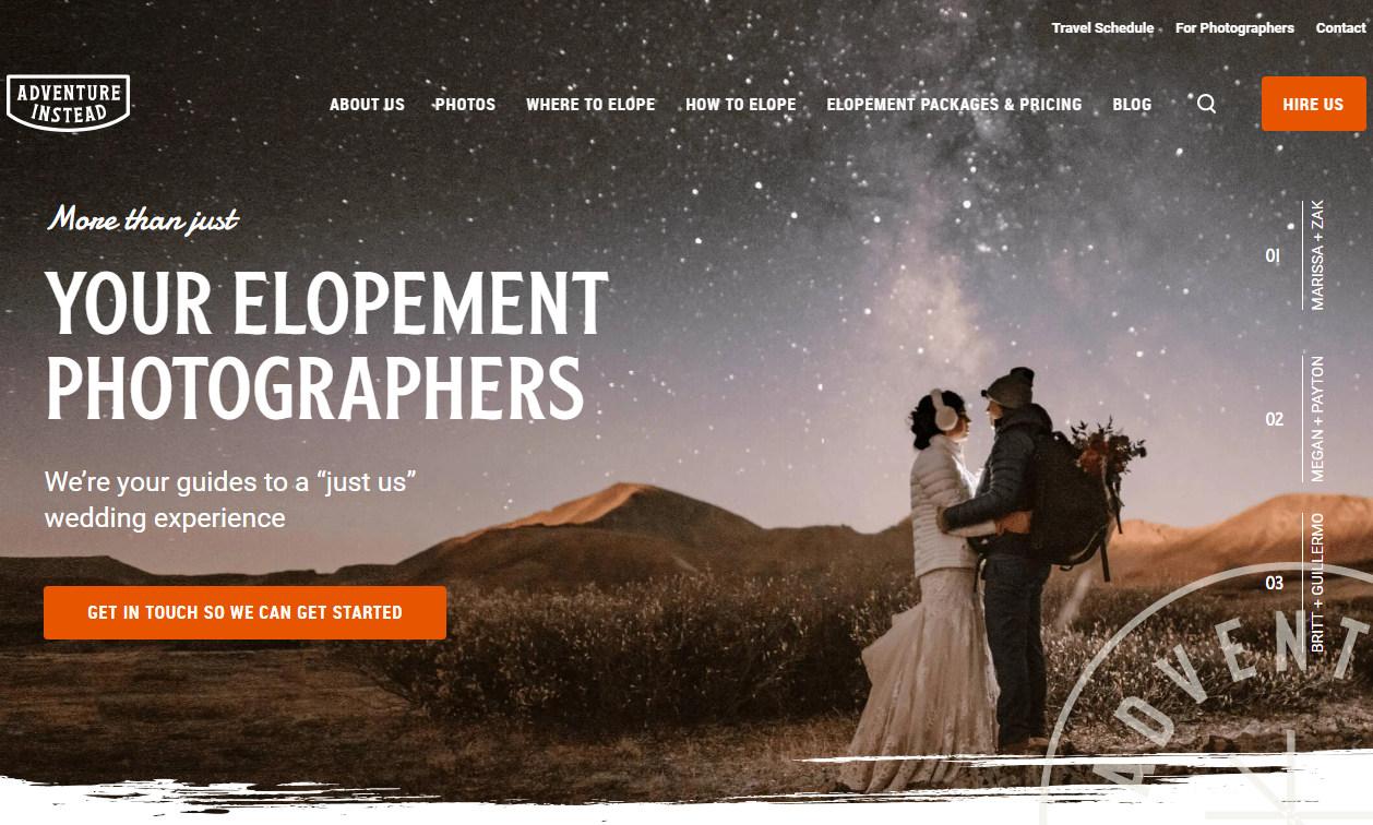 Красивый бизнес-сайт фотопредпринимателя Мэдди Мэй