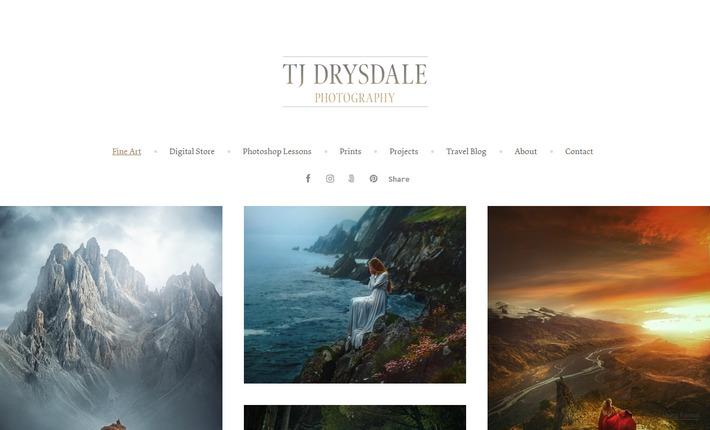 Личный продающий сайт-портфолио крутого портретного fine art и фэшн фотографа из Флориды